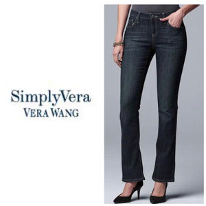 Simply Vera Wang Blue Midrise Bootcut Jeans Sz 10